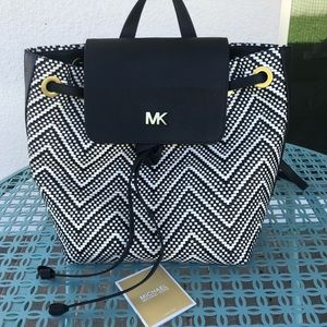 NWOT Michael Kors Woven Leather Backpack